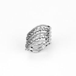 Nádherný stříbrný prsten se zirkony