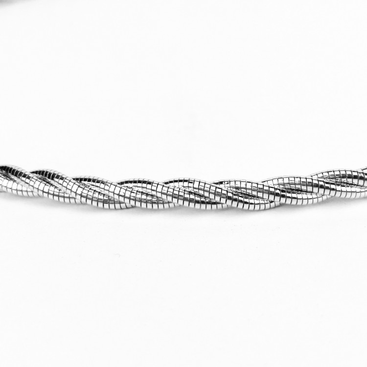Luxusní stříbrná italská obruč